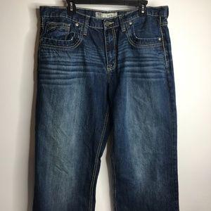 BKE Denim Seth Straight Leg 38L medium wash Long